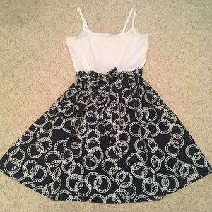 Tommy Hilfiger L Navy and White Nautical Sundress